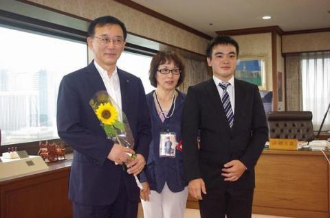 谷垣法務大臣との写真